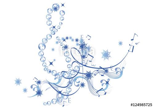 Winter Music Clipart.
