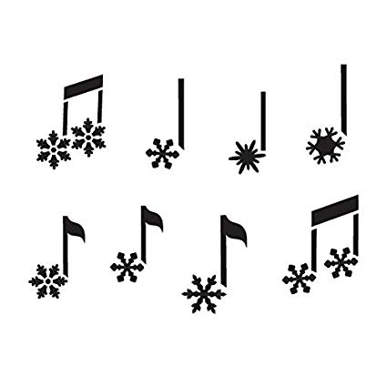 Snowflake Music Notes Stencil by StudioR12.