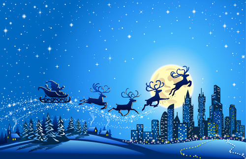 Christmas night sky free vector download (9,141 Free vector.