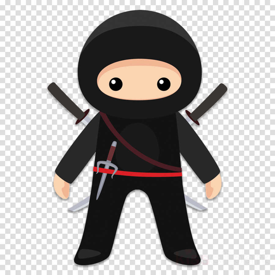 cartoon clip art ninja animation black hair clipart.