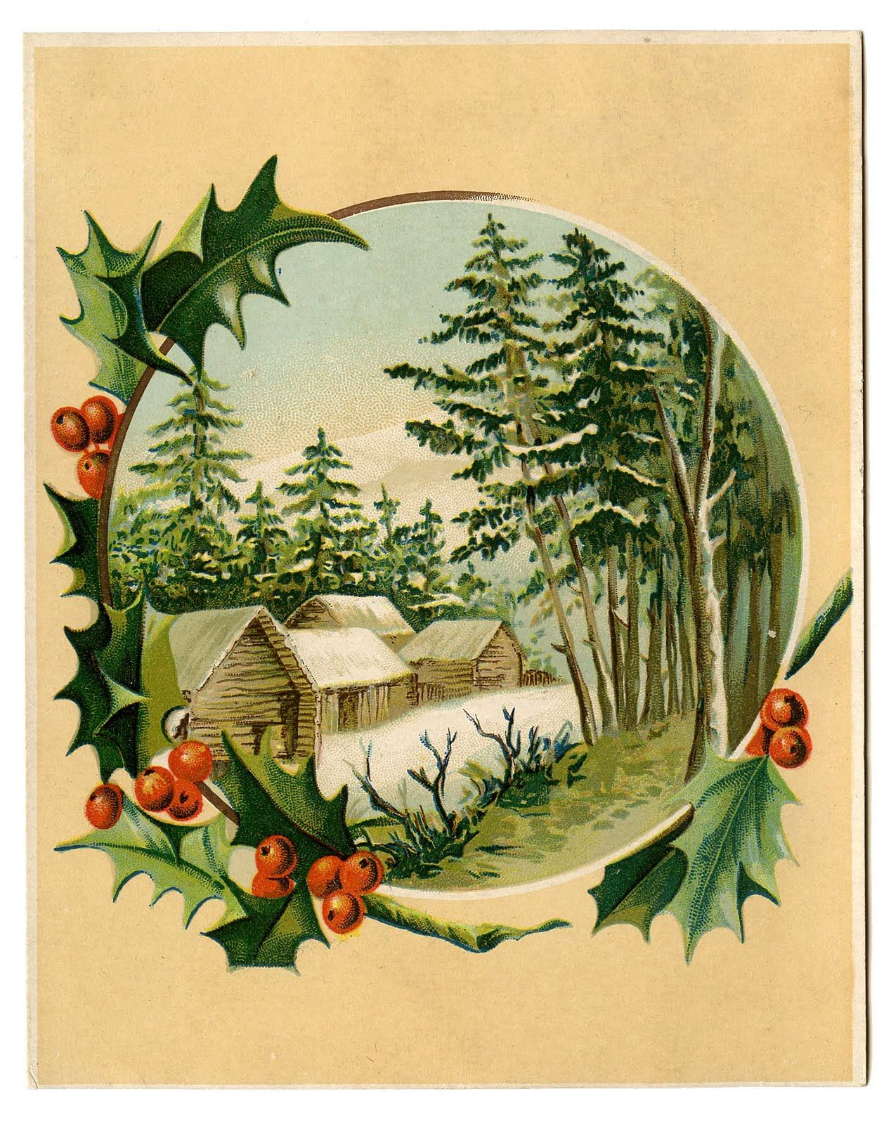 I love old fashioned Christmas cards..