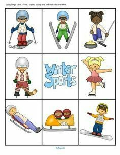 Clipart Winter Olympic Sports.