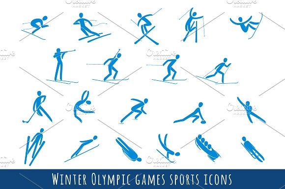 Winter Olympic Games Clipart.
