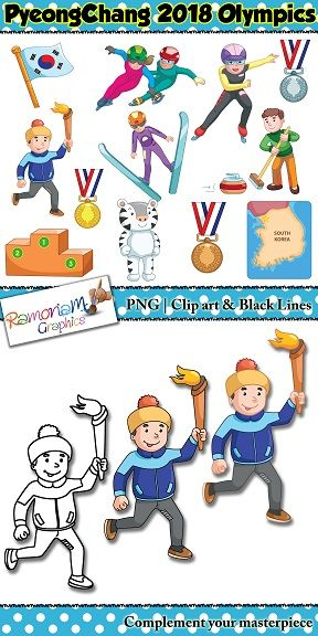 Winter Olympics 2018 Clip art.
