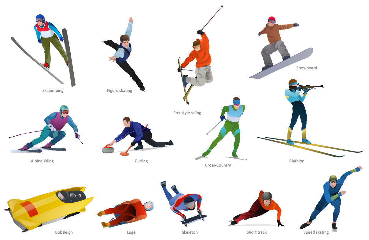 Winter Olympic Sports Clip Art free image.