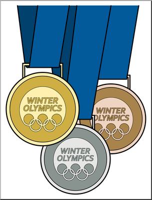 Clip Art: Winter Olympics Medals Color I abcteach.com.