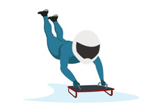 Olympic Skeleton Clipart.