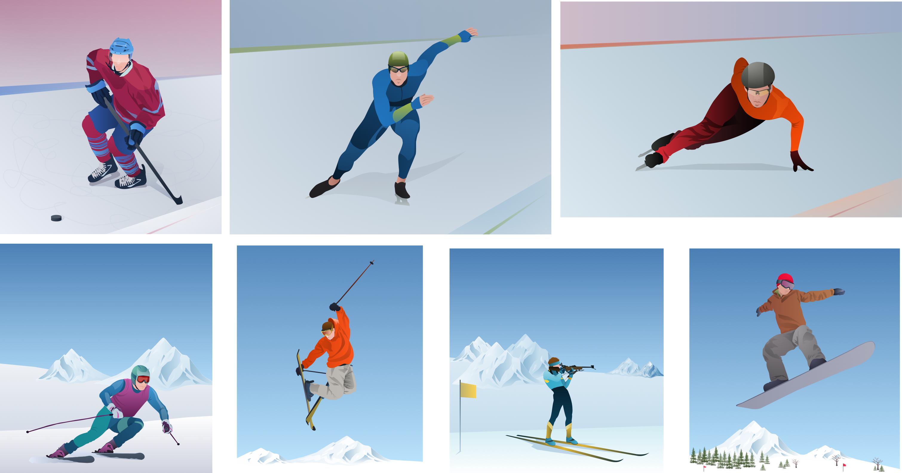 Winter Olympics Sports Clipart.