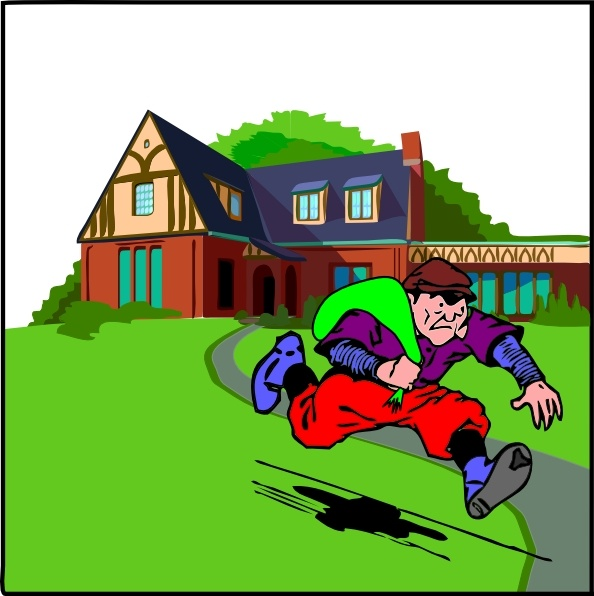 House Robbery clip art Free vector in Open office drawing.