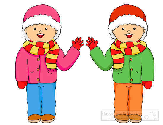 Winter Season Clothes Clipart.