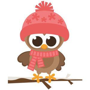 Girl winter owl.