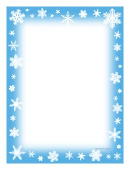 Snowflake writing paper — fun incentive for students and fun.