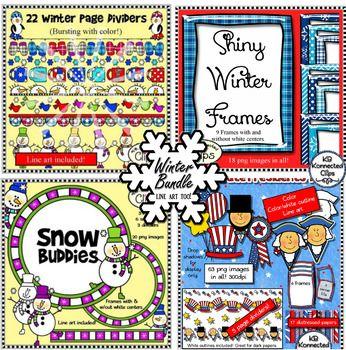 Winter Clip Art Bundle.