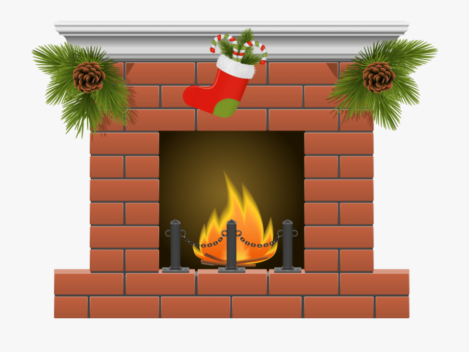 Fireplace clipart stocking drawing, Fireplace stocking.