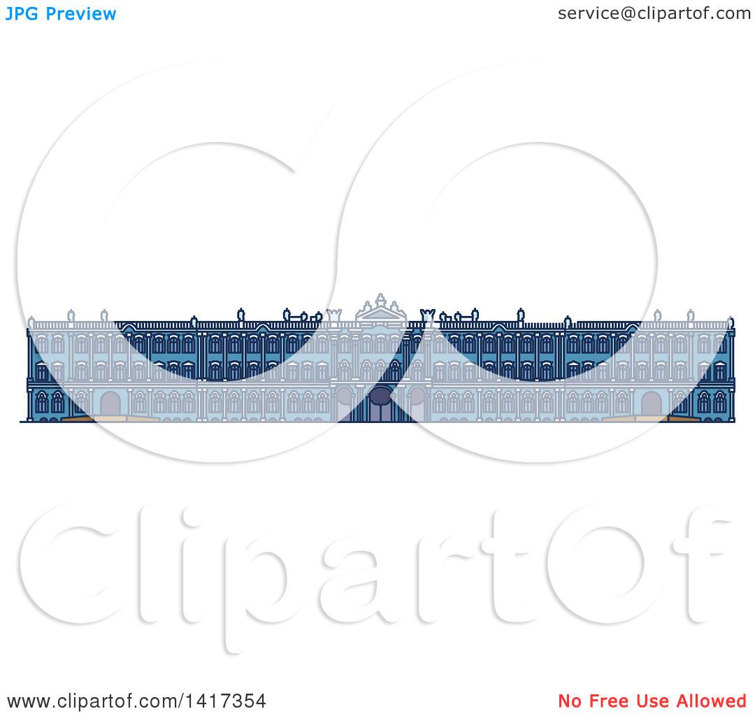 Clipart of a Russian Landmark, Winter Palace.