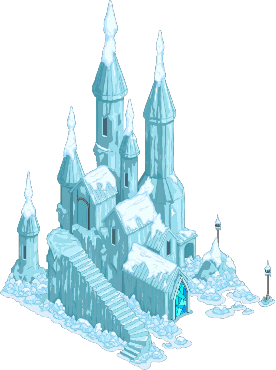 Frozen Castle Clipart.