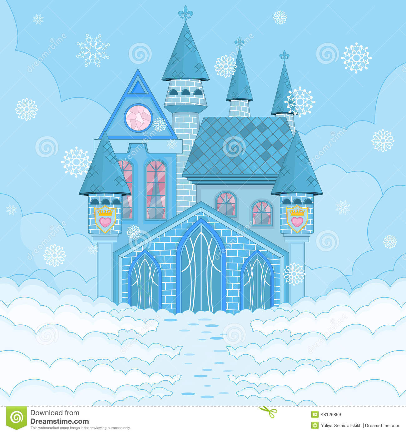Ice Palace Stock Vector.