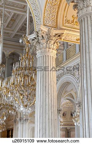 Stock Photograph of Interiors of the Winter Palace, State.