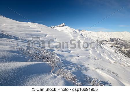Stock Images of Infinite winter panorama.