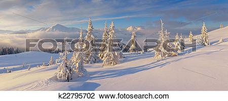 Stock Photo of Winter panorama k22795702.