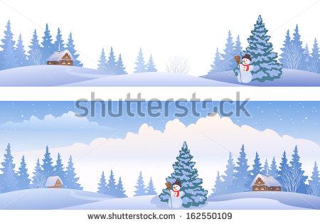Winter Panorama Stock Photos, Royalty.
