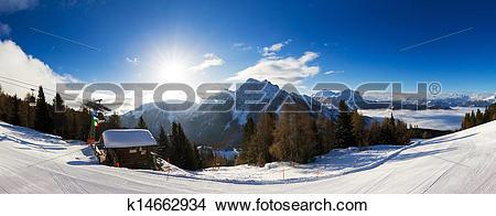 Stock Photo of Winter panorama k14662934.