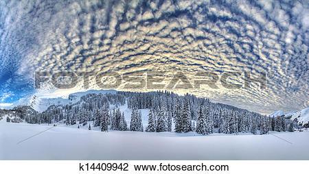 Stock Photo of Winter panorama k14409942.