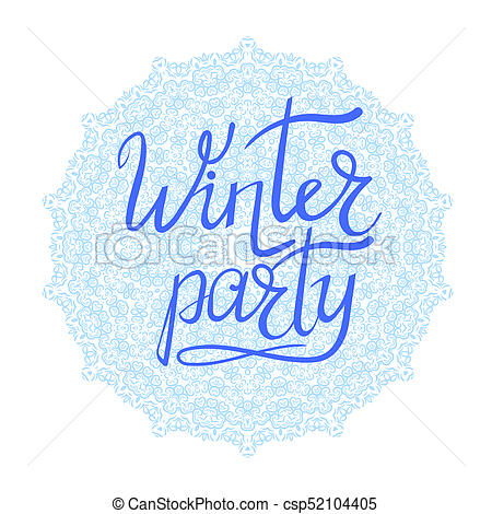Winter party Illustrations, Graphics & Clipart.