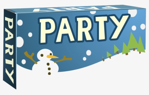 Free Party Banner Clip Art with No Background.