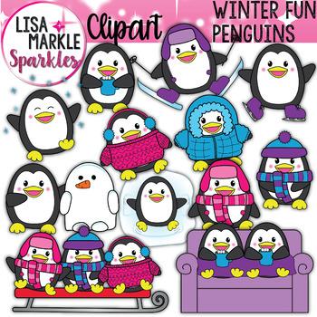 Penguin Clipart Winter.