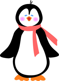 Winter Penguin Clipart Free.