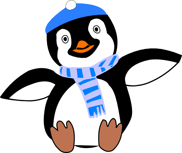 Winter Penguin Clipart.