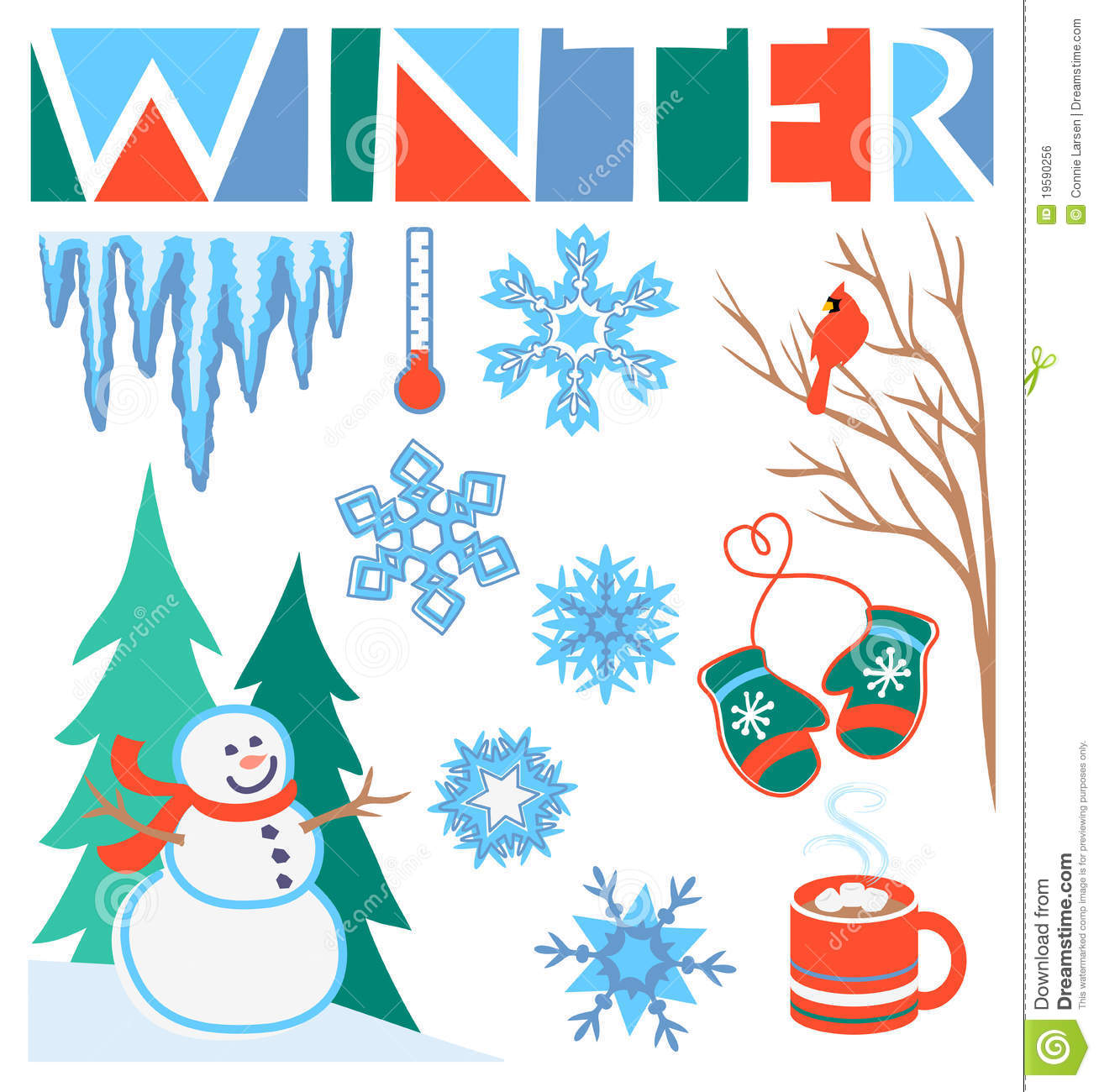 Winter Birthday Clipart.