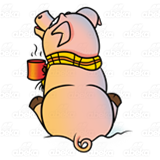 Clipart pig winter, Clipart pig winter Transparent FREE for.