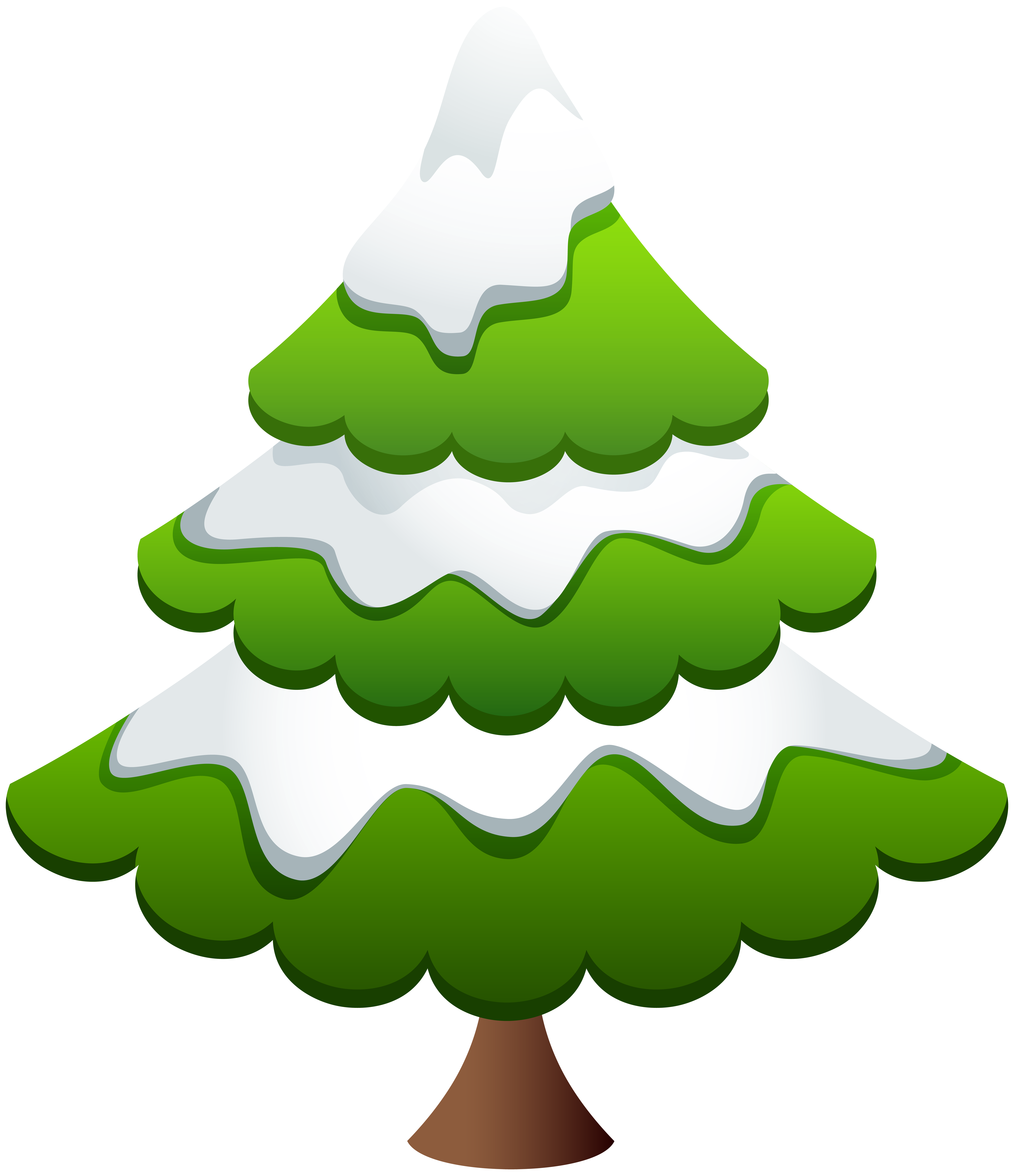 Winter Pine Tree Clip Art Image.