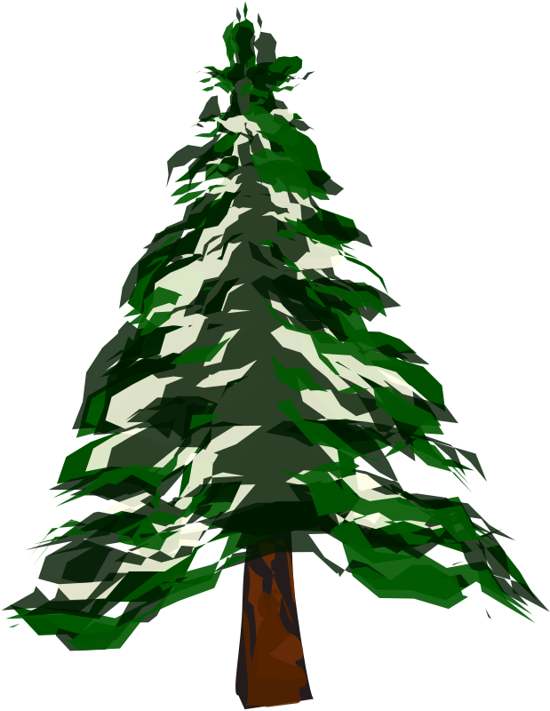 Winter Pine Trees Clipart.