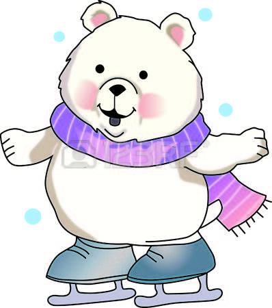 Cute Polar Bear On Ice Clipart 75757.
