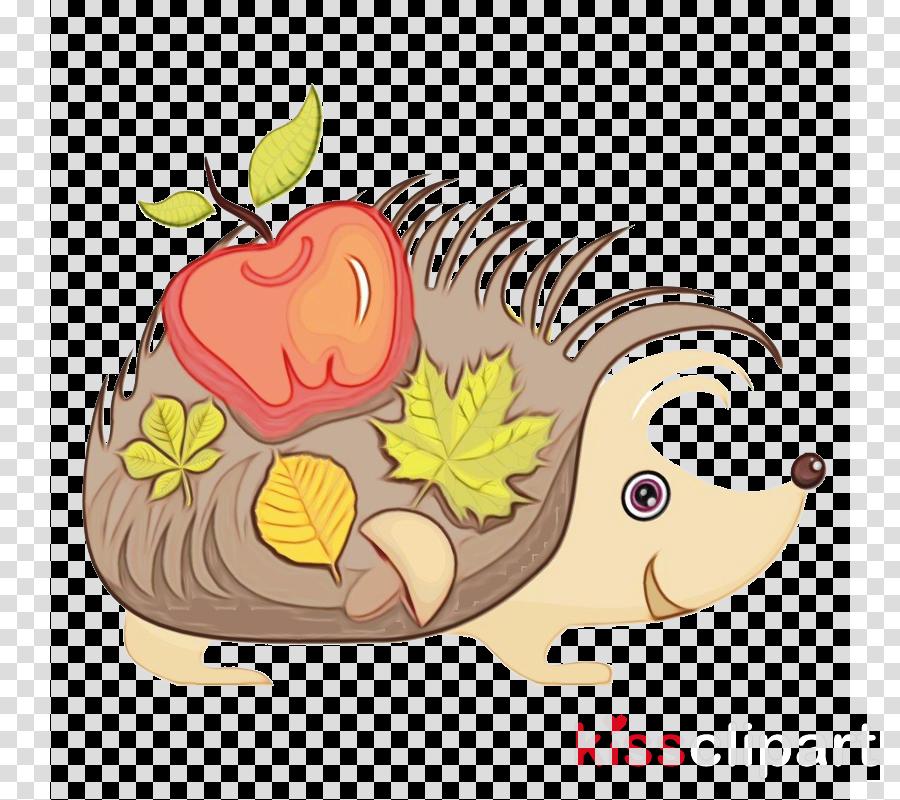 cartoon clip art hedgehog porcupine clipart.