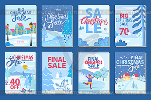 Final Sale on Winter Holidays Set of Promo Posters.