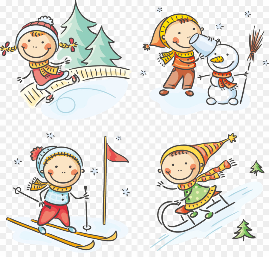 Outdoor Winter Activities Clip Art PNG Drawing Outdoor.