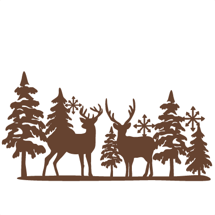 Winter Reindeer SVG scrapbook cut file cute clipart files.