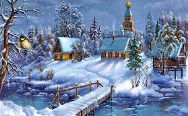 Free Winter Church Clipart.
