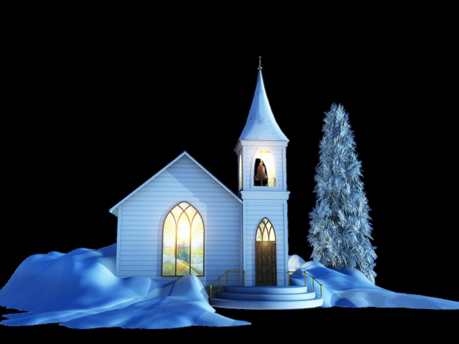 Winter clipart church, Winter church Transparent FREE for.