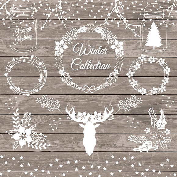 Free Rustic Christmas Clipart.