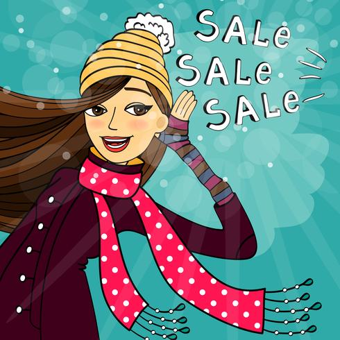 Winter shopping sale.