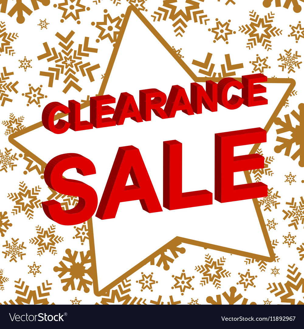 Winter sale poster with CLEARANCE SALE text.