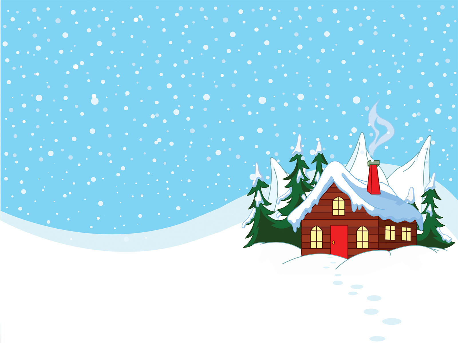 Winter Scene Powerpoint Templates.