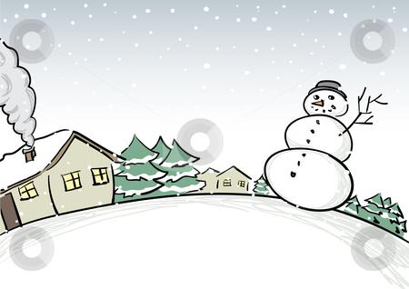 Winter scenes clipart.