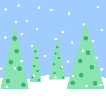 Winter Scene Clipart.