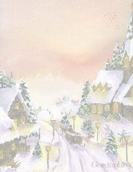 Winter Scene Christmas Letterhead, 8.5x11, 80/PK.